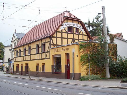Laubegaster Wache, Waffenstötzer, �sterreicher Stra�e 42 Dresden