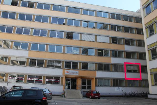 Rot markiert: Das Büro von Ein Prozent und dem Jungeuropaverlag im Bürohaus Lignerallee 3