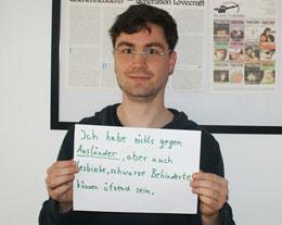 Felix Menzel auf Facebook Seite der Blauen Narzisse