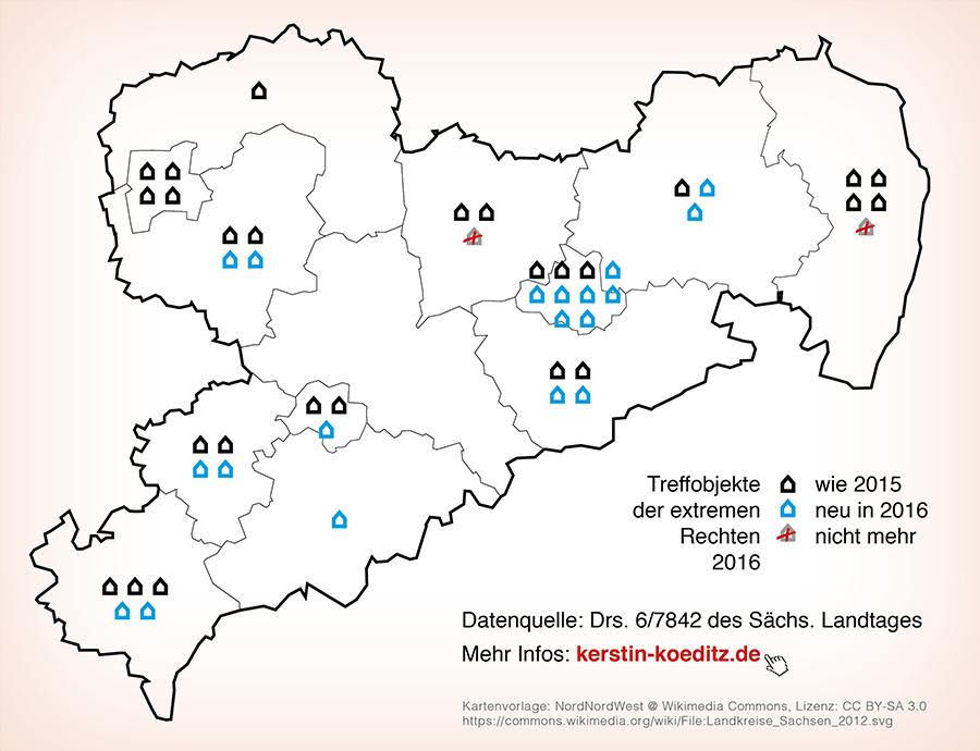 Neonazi Treffobjekte Sachsen 2016