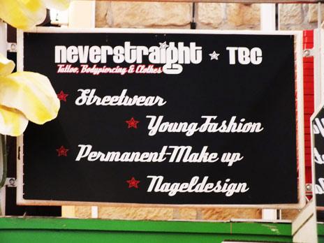 Naziladen Neverstraight TBC - Tattoo - Bodypiercing - Clothes Heidestr. 1-3 01127 Dresden